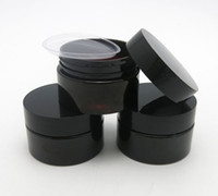 50 x 30g Boş Koyu Amber Pet Cilt Bakım Krem Kavanoz Ile Plastik Kapaklar Ile 1 Ooz Kozmetik Konteyner