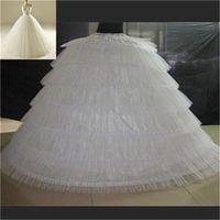 Marka Yeni Büyük Petticoats Beyaz Süper Kabarık Balo Elbisesi Altskirt 6 Hoops Uzun Süreli Klip Binolin Yetişkin Düğün / Resmi Elbise