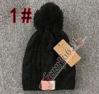 موك = 1 قطع الخريف / الشتاء ماركة تصميم دافئ قبعة امرأة ورجل قبعة الأزياء محبوك قبعة الصوف قبعة 8 ألوان أسود أحمر الشحن مجانا مصنع رخيصة