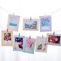 Álbumes de fotos DIY 8 unids / set 6 pulgadas regalo creativo DIY colgante de pared de papel marco de fotos titular de álbum de fotos home decoraciones de la pared