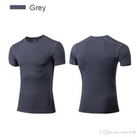 Tee-shirts à manches courtes Dry Fit Top Running Manches Courtes XXL Hommes Compress Tee Gym Vêtements Respirants