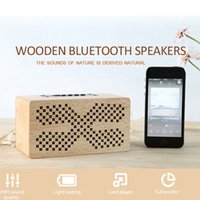 Home Outdoor Using Wooden Bluetooth Speakers 1500mah TF CARD...