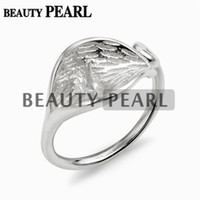 5 Pieces Lotus Leaf Ring Base Pearl Semi Mount DIY Jewelry F...