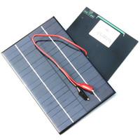 NEW 4.2W 18V Solarzelle Polykristalline Solar-Panel + Krokodilklemme zum Aufladen 12V Batterie Solar-Ladegerät 200 * 130MM Freeshipping