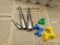 높은 품질 10mm 14mm 18mm GR2 꿀 컬렉터 티타늄 팁 손톱 Lab keck 클립 유리 물 파이프 키트