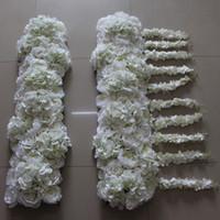 고품질 인공 아치 꽃 행은 새로운 수국 모란을 등나무 결혼식 도로 리드 꽃 10pcs / lot