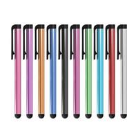Großhandels500pcs / lot kapazitiver Stift für Iphone5 5S-Noten-Feder für Handy für Tablette verschiedener Farben
