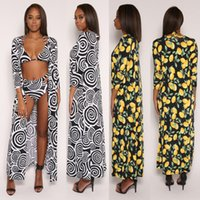 New Dot Lemon Print Cardigan Swimsuit Cover- Ups + Beach Biki...