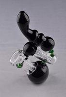 EM ESTOQUE tubo de vidro preto Bolha de vidro cachimbo cachimbo de água bongo de Vidro frete grátis