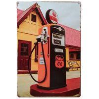 Rota de óleo de gás 66 retro rústico estanho metal sinal decoração vintage lata cartaz café café bar casa decoração