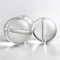 25mm Glas Kohlenhydrasse Kappe Hukahn Quarz Terp Slurper Banger flach Top Domeless Nagel Klare Perlen Kugellochkappen Für Raucher Wasserleitungen