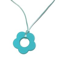 Silicone Flower Pendant 45mm 100% Food Grade Silicone Teethi...