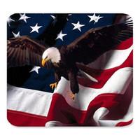 Pad de souris de jeu de souris de gamin en caoutchouc personnalisé générique, cool américain drapeau fierté des motifs d'aigle, gaming en caoutchouc antidérapant grand tapis de mousepad