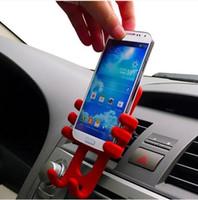 Самый новый, держатель разнообразия силикона Маунта автомобиля сброса воздуха типа обезьяны для телефона, симпатичного держателя сотового телефона шарма