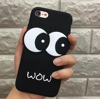 3D Cute Big Eyes Soft Silicone phone case cover for iPhone 8...
