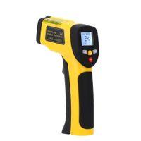 Freeshipping Präzision Digital Infrarot Thermometer Doppel Laser Berührungslose IR Pyrometer Temperatur Tester Diagnose-tool 50 ~ 1050 Grad