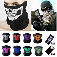 Multi Fonction Crâne Masque De Sport Sports De Plein Air Ski Vélo Moto Foulards Bandana CS Cou Snood Halloween Partie Cosplay Masques Complets