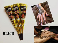 2017 NEW Black Natural Indian Henna Tattoo Paste for Body Dr...