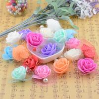 Wholesale-30pcs / lot 실크 레이스 폼 웨딩 자동차 홈 인테리어 DIY Mariage flores Rosa Flowers Plants의 수제 인공 꽃 장미