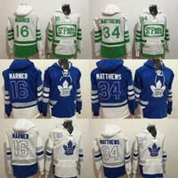 f6557774a88 ... Toronto Maple Leafs hoodie 34 Auston Matthews 16 Mitch Marner 29 William  Nylander Blue 100th 2017 ...