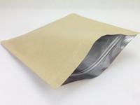 50 pcs geral de vedação de papel kraft auto-selante saco de papel verde saco de chá de frutas secas, cinco cereais, sacos de folha de alumínio