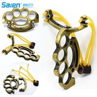 New Powerful Outdoor Slingshot 2 Rubber Bands High Velocity ...