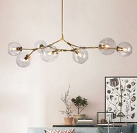Glass chandelier 1 3 5 7 heads Glass ball branching Drop Han...