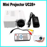 """UC28 + beweglicher Pico führte MiniHDMI Handels-USB-VGA-Videospielprojektor-Digital-Tasche Hauptprojetor-Miniproyector für 80 """"Kino Freier DHL"""
