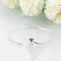 Silver Plated Bracelet fit Women For Pandora Snake chain Bas...