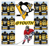 YOUTH 2018 NEW BRAND Sidney Crosby Men Pittsburgh MALKIN Mat...