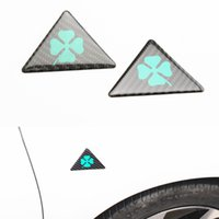10 pcs For Alfa Romeo quatrefoil green delta Car Side Fender...