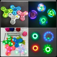 Fidget Spinner ABS ou Crystal Bluetooth Spinner et Led Usb Spinner à main jouet EDC Toy pour décompression Anxiety Toys