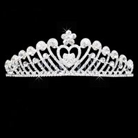 Bling Bling Strass Accessori per capelli Tiara per matrimoni Corea Shining Crown Bridal Jewelry HeadPiece Neq Fashion Vintage
