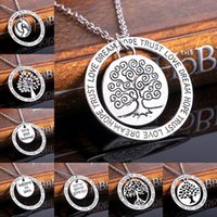 Вдохновить Дерево Жизни ожерелье письмо верить в любовь доверие Мечта Надежда след очарование вдохновить ювелирные изделия для женщин мужчин