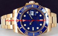 الفولاذ المقاوم للصدأ سوار الذهب الأصفر الذهب الأزرق الطلب السيراميك 116618 الحركة التلقائي ووتش الصدر 40 ملليمتر ميكانيكيا رجل ووتش ساعة اليد