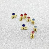 50 adet / grup Cilt implantasyon takı Görünmez delici Titanyum Dermal Çapa Üst Mücevher Mikro Dermal Başkanı Yüzeyler