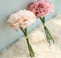 Bos Hydrangea Peony Boeket Kunstbloemen Floweristry DIY voor Home Wedding Decoratieve 6 kleuren G