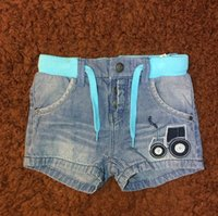 Baby Boy Pants Shorts Jeans Car Pattern Embroider England St...