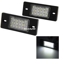 2 قطع 12 فولت لوحة ترخيص ضوء السيارة / لمبة بلاستيكية مع 18 المصابيح smd3528 الضوء الأبيض لبورشه كايين vw طوارق باسات