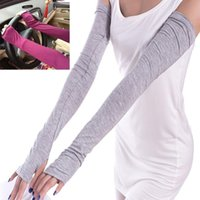 Women Cotton Long Fingerless UV Sun Protection Golf Driving ...