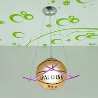 Boy's Bedroom Glass Basketball Ceiling Pendant Light Children's Bedroom Corridor Cord Football Pendant light Hallway Balcony Hanging Lamps