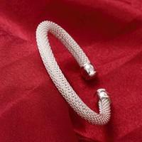 Оптовая торговля-розничная низкая цена Рождественский подарок, бесплатная доставка, новый 925 серебряный браслет моды B040