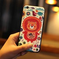 3D Embossing Soft 2 в 1 Basso-relievo Tpu + Корпус для ПК для iPhone 5S 6S 7 Plus Назад Чехлы