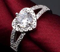 Дешевые платиновое покрытие ms округлость любовь бриллиантовое кольцо микро бриллиантовое кольцо с высоким содержанием углерода бриллиантовое кольцо два стиля можно выбрать