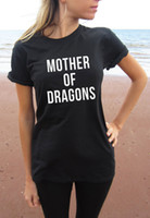 Maglietta Mother of Dragons Tee SCREEN PRINT Retail Soft Unisex Ladies Taglie Global Ship Game of Thrones Khaleesi