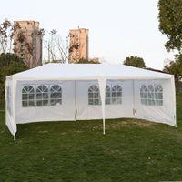 야외 10'x20'Canopy 파티 웨딩 텐트 전망대 파빌리온 캐터 이벤트 4 Sidewall