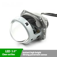 """Nouveau 3.0 """"35W bi-led lentille de projecteur phare led phare pour phare de voiture assemblée avec ventilateur"""