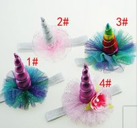 Magical Unicorn Horn Head Party Hair Headband define vestido perfeito Crianças Baby Christmas Girl Kids Gift Cosplay Decorative Headwear