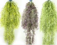 L'explosion de 115cm cloche murale décoration murale Liu simulation plantes en plastique de fleurs, panier de rotin orchidée