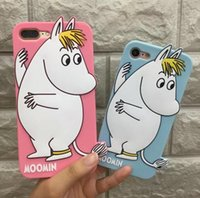 3D New cute cartoon moomin Soft Silicone phone case cover fo...